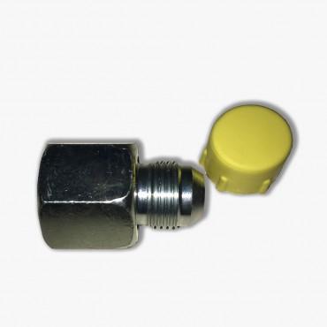 Adapter Female JIC wartel/male JIC (type Y) (Koppelingsmaat 1: 1 1/16'', Koppelingsmaat 2: 9/16'')