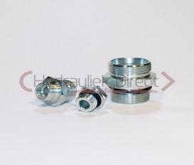 Rechte Male inschroefkoppeling met rubber seal E DIN 3852 Body only ( L15  1/2 '') Doos van 50 stuks