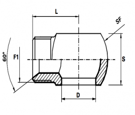 Banjo koppeling  BSP /Male BSP met geleider  (Koppelingsmaat 1: 1/4'', Koppelingsmaat 2: 1/4'')