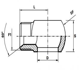 Banjo koppeling  BSP /Male BSP met geleider  (Koppelingsmaat 1: 3/8'', Koppelingsmaat 2: 1/2'')