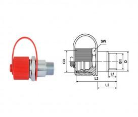 Rechte vul adapter M 20x1.5