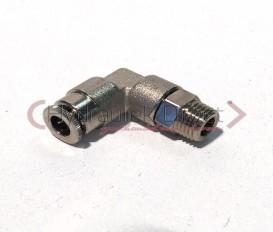 Haakse zwenkbare insteekkoppeling D6-M6x1k