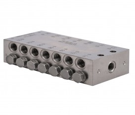 Blokverdeler 5x zuiger/ 10x uit M10x1