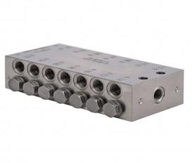 Blokverdeler 3x zuiger/ 6x uit M10x1