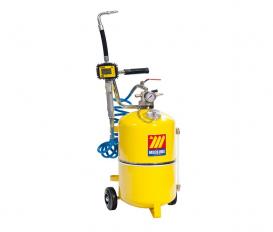Pneumatische olie dispenser 24 liter met digitaal mondstuk