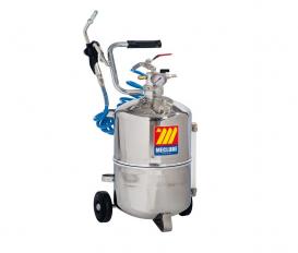 Pneumatische olie dispenser RVS 24 liter