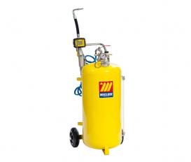 Pneumatische olie dispenser 50 liter met digitaal mondstuk